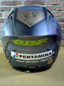 helm full face INK cl primo NMP silver tribal kphmph (5)