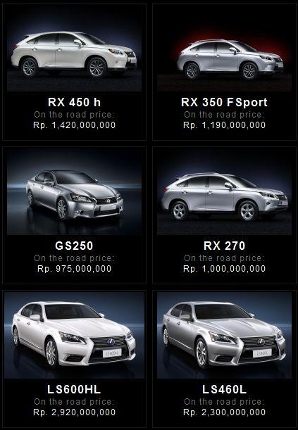kphmph harga mobil lexus januari 2013 1