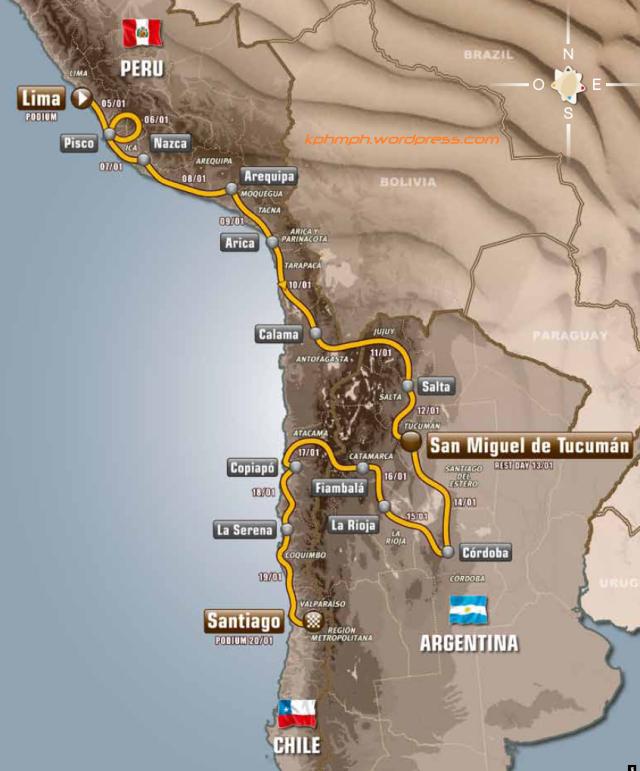 rute rally dakar 2013 kphmph