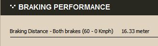 spek 8 brake performance