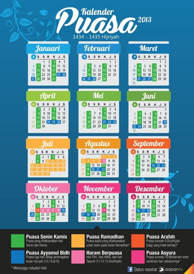 Kalender Puasa 2013